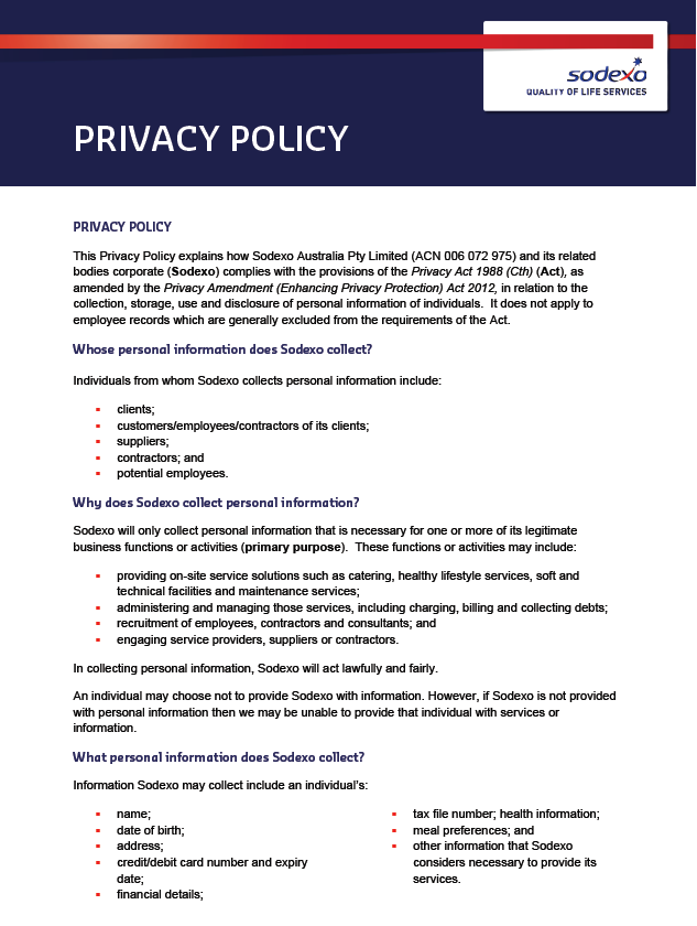 Privacy Policy and Collection Statement  Officeworks